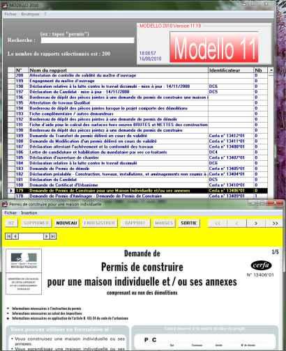 Maj logiciels for Cerfa maison individuelle